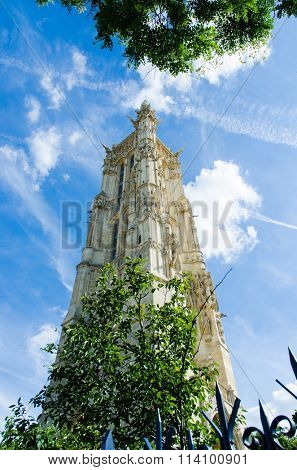 Tower of tour Saint Jacques in Paris