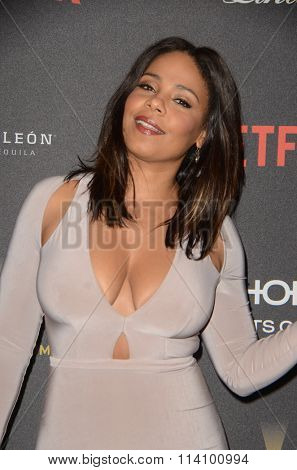 LOS ANGELES - JAN 10:  Sanaa Lathan at the Weinstein Company & Netflix 2016 Golden Globe After Party at the Beverly Hilton on January 10, 2016 in Beverly Hills, CA