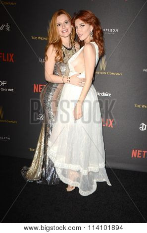 LOS ANGELES - JAN 10:  Bella Thorne, Dani Thorne at the Weinstein Company & Netflix 2016 Golden Globe After Party at the Beverly Hilton on January 10, 2016 in Beverly Hills, CA