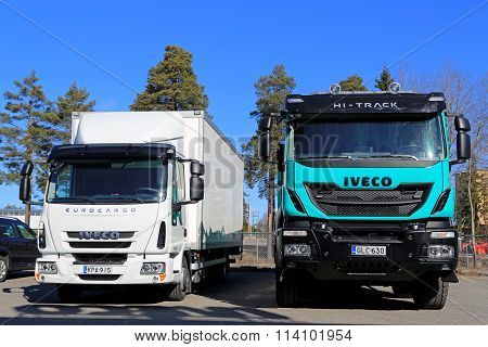 Iveco Euro 6 Trucks On A Yard