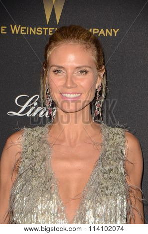 LOS ANGELES - JAN 10:  Heidi Klum at the Weinstein Company & Netflix 2016 Golden Globe After Party at the Beverly Hilton on January 10, 2016 in Beverly Hills, CA