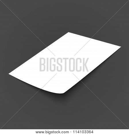 Vector blank paper template
