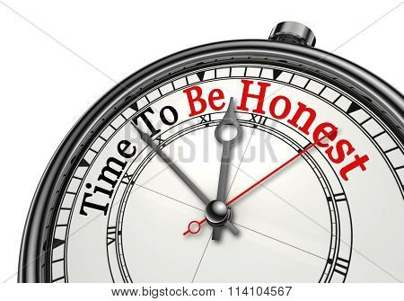 Time To Be Honest Message On Concept Clock