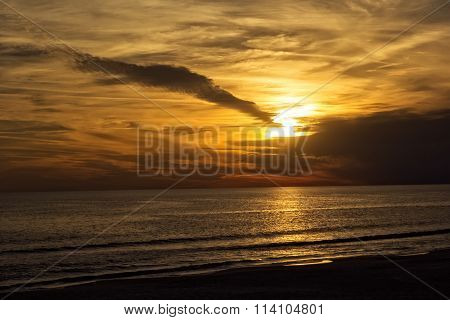 Sunset Of The Gulf Of Mexico