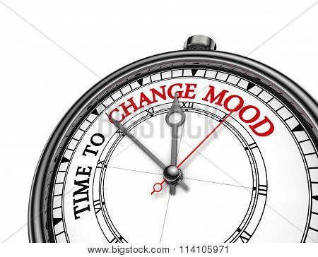 Time To Change Mood Motivation Message On Concept Clock