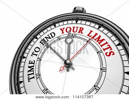 Time To Find Your Limits Motivation Concept Clock