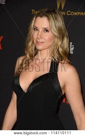 LOS ANGELES - JAN 10:  Mira Sorvino at the Weinstein Company & Netflix 2016 Golden Globe After Party at the Beverly Hilton on January 10, 2016 in Beverly Hills, CA