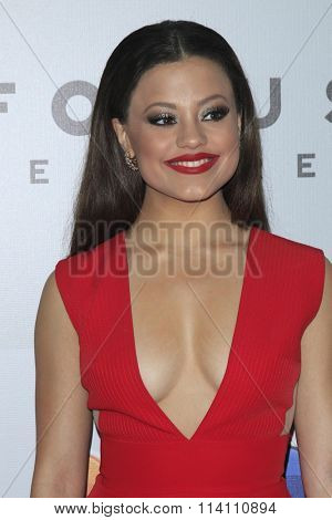 LOS ANGELES - JAN 10:  Sarah Jeffery at the NBCUniversal Golden Globes After Party 2016 at the Beverly Hilton on January 10, 2016 in Beverly Hills, CA