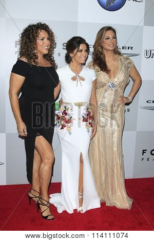 LOS ANGELES - JAN 10:  Diana Maria Riva, Eva Longoria, Alex Meneses at the NBCUniversal Golden Globes After Party 2016 at the Beverly Hilton on January 10, 2016 in Beverly Hills, CA