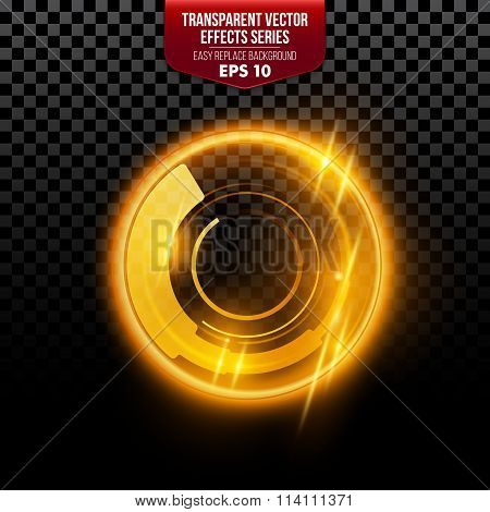 Transparent special lens flare light effect. Vector illustration