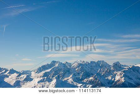 Alps mountain winter landscape