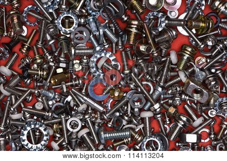 Bolts screws nuts and washers