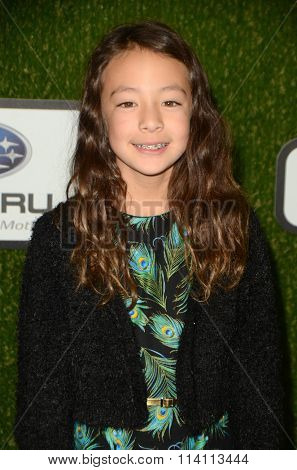LOS ANGELES - JAN 9:  Aubrey Anderson Emmons at the The CW World Dog Awards at the Barker Hanger on January 9, 2016 in Santa Monica, CA
