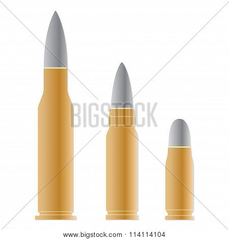 Bullet set isolated on white background. Vector illustration of different bullets.