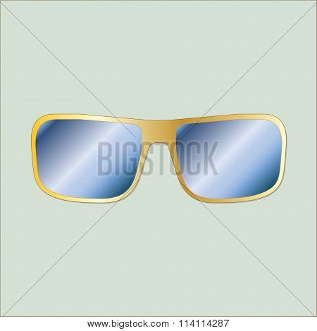 Sun glasses icon in flat design. Vector illustration.