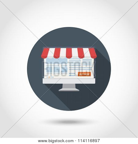 Online shoping concept flat