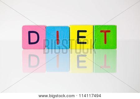 Diet - An Inscription From Children's Blocks