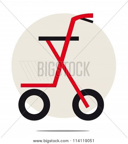 Illustration Of Rollator Isolated On White Background
