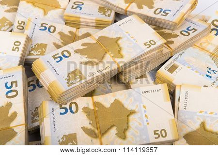 Stack of money in business concept