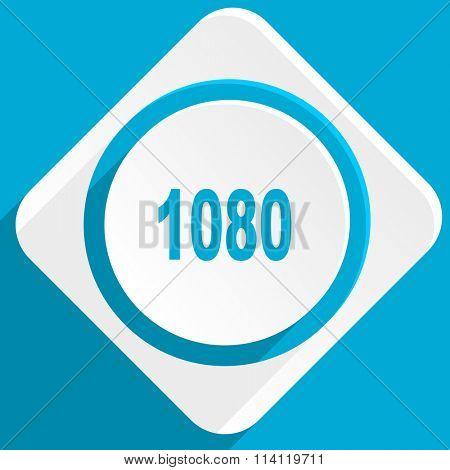 1080 blue flat design modern icon for web and mobile app
