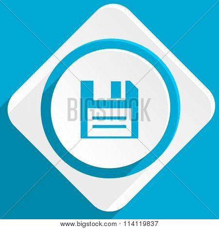disk blue flat design modern icon for web and mobile app