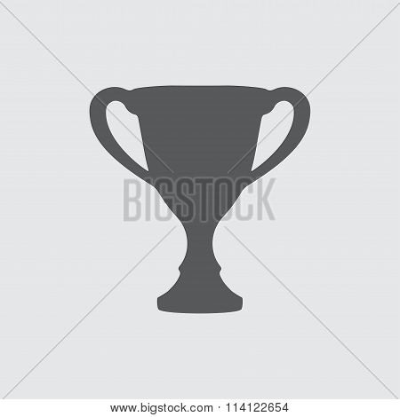 Trophy cup icon or sign. Winning champions cup. Vector illustration.