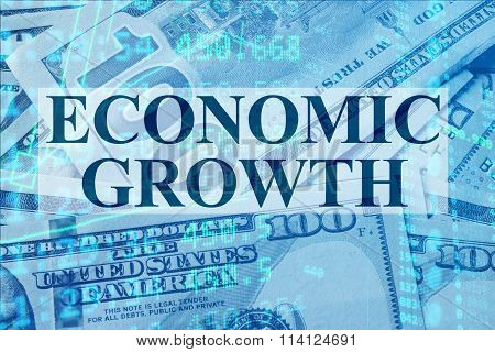Words Economic growth  with the financial data.