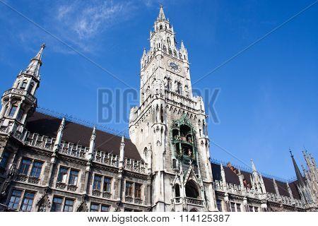 City Hall In Munich, Marienplatz