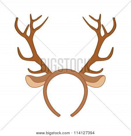 Reindeer Horns Vector