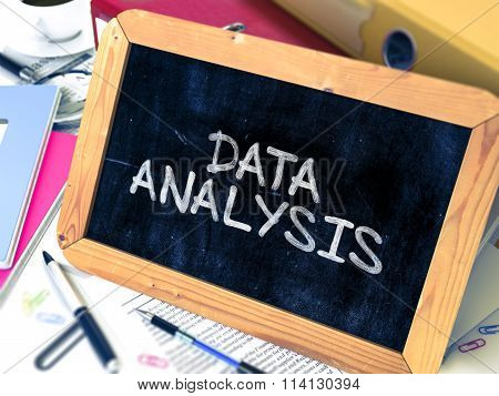 Data Analysis Handwritten on Chalkboard.