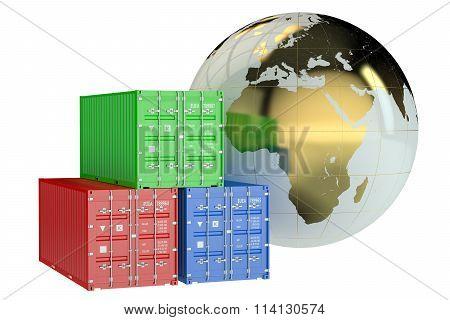 Global Cargo Shipping Concept