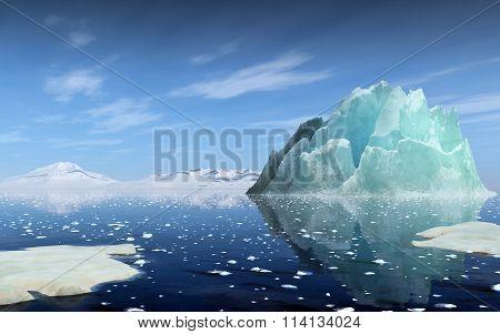 Rendering Of An Iceberg