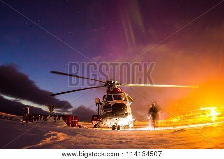 Arctic winter in south Spitsbergen.