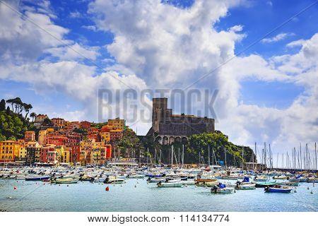 Lerici, Harbor And Village. Cinque Terre, Ligury Italy