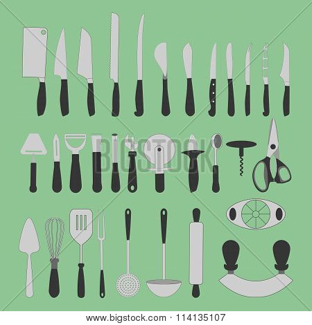 Cutlery Icons Set
