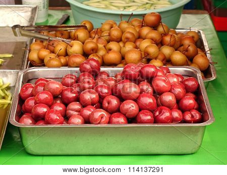 Chinese Plums And Pears Pickled In Sugar
