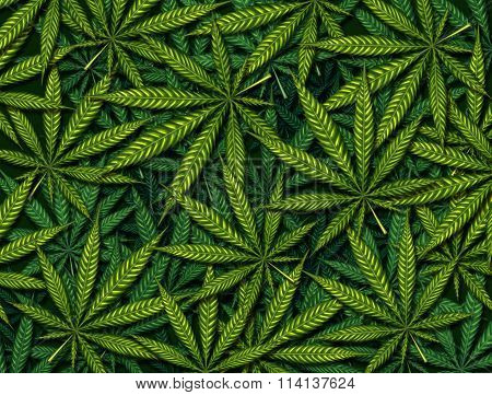Marijuana Leaves Background