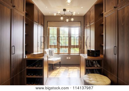 decoration and furniture in modern wardrobe