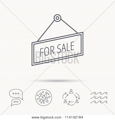 For sale icon. Advertising banner tag sign.