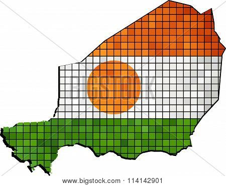 Niger Map With Flag Inside.eps