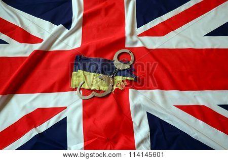 Partnership. Britain and Ukraine Flag