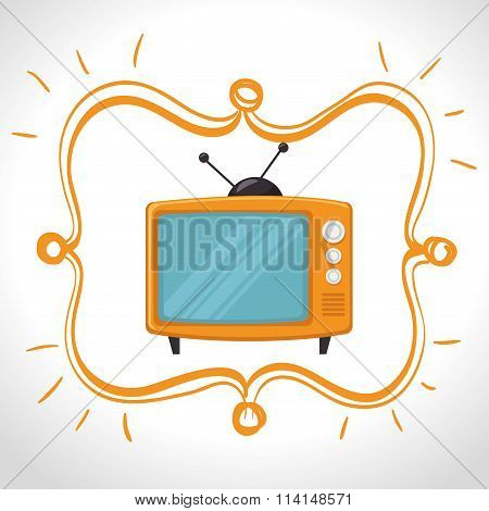 Television entertainment graphic