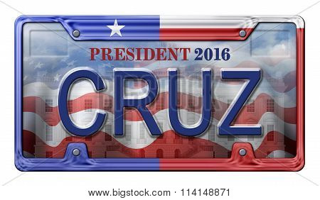2016 Cruz License Plate