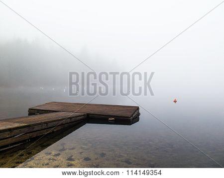 Wooden pontoon