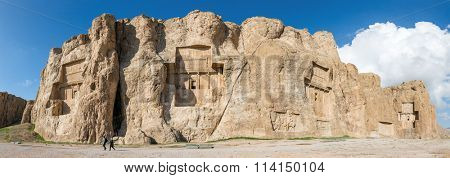 Naqsh-e Rustam, an ancient necropolis in Pars Province, Iran. Panorama