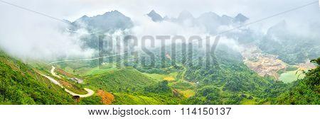 Clouds over Ma Phuc Pass Cao Bang, Viet Nam