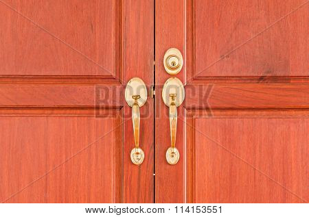 Gold knobs with keyhole