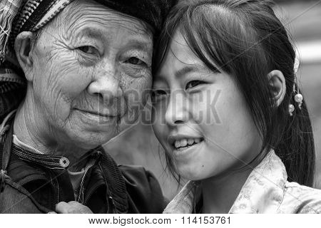 Her grandchildren ethnic situation in Ha Giang, Vietnam