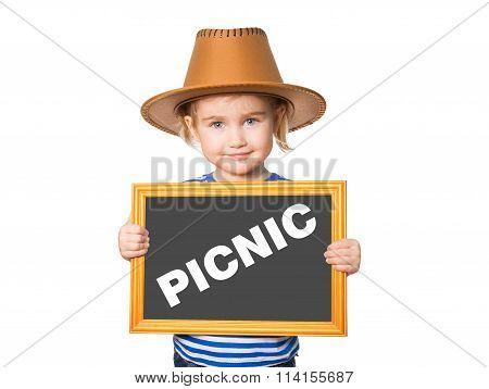 Blackboard. Text Picnic.