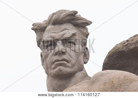 "The Head Of The Sculpture ""stand To Death"" In The Square Stood Death-historical Memorial C"